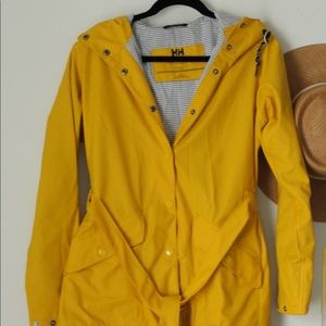 Long, yellow raincoat